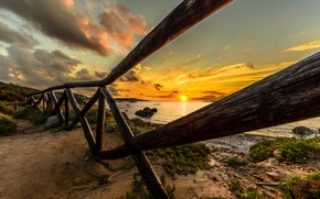 Picture sea, the sky, the sun, landscape, sunset, nature, the ocean, dawn, beach, sky, ocean, landscape, …