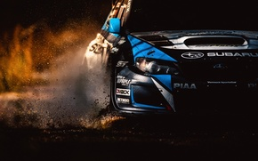 Picture machine, dirt, subaru, sti, Rally America