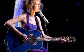 Picture guitar, blonde, concert, singer, Taylor Swift, Taylor Alison Swift