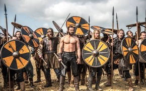 Picture weapons, the series, Vikings, shields, warriors, historical, The Vikings, Clive Standen, drama, Rollo