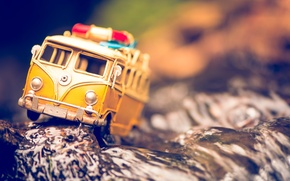 Picture macro, tree, model, toy, shooting, machine, photo, photographer, obstacle, minibus, model, Jamie Frith