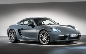 Wallpaper Porsche, background, Cayman, Caiman, Porsche, 718, coupe