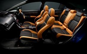 Picture interior, leather, Subaru, chairs, WRX, salon, STI, Subaru