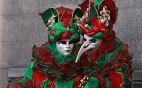 Picture mask, costume, Venice, carnival