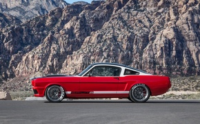 Picture mustang, red, ford, side, with, view, hre, satin, charcoal, c103