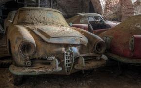 Picture auto, old, dust, dump