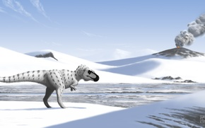 Picture The volcano, Animals, Arctic, Ancient, Dinosaurs, tyrant