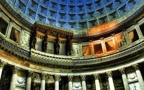 Picture color, interior, columns