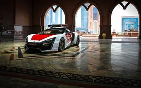 Wallpaper supercar, Police, HyperSport, Lykan
