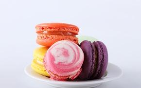 Wallpaper cookies, dessert, sweet, dessert, cookies, macaron, macaron, almond