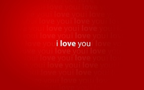 Wallpaper red, i love you, red, creative, love, words creative pictures, mood, words