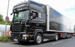 Picture Black, Truck, Angel, Scania, R500