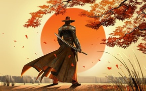 Picture sword, fantasy, man