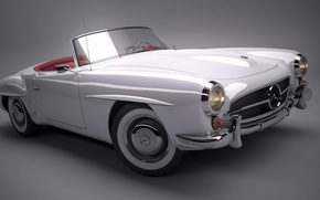 Picture background, convertible, Car, Mercedes 190SL