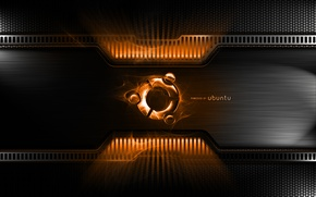 Picture metal, ubuntu, sign, carbon, orange, powerplant, powered