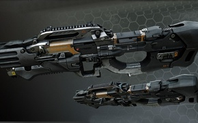 Picture automatic weapons, the wars of the future, Crysis weapon of the future