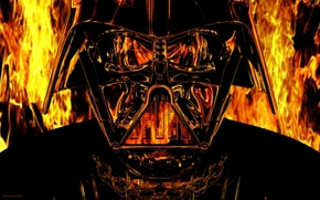 Picture reflection, Star Wars, helmet, Darth Vader, Star wars, Darth Vader