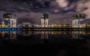 Picture night, lights, home, Germany, Cologne