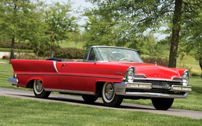 Picture Lincoln, red, the front, 1957, Convertible, Lincoln, Premiere
