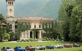 Wallpaper Trees, House, BMW, Mountains
