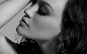 Picture face, portrait, Black and white