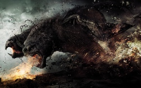 Picture God, monster, battle, Chimera, Wrath of the titans