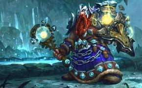 Picture World of Warcraft, Warcraft, Blizzard, Dwarf, wow, art, Legion, Shaman