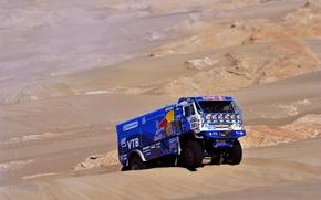 Picture sand, Machine, Truck, Red Bull, Kamaz, Rally, KAMAZ, Dakar, Dune, The rise, 501