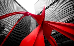 Picture Chicago, United States, United States of America, Illinois, USA, The Red Flamingo, Kluczynski Federal Building, …