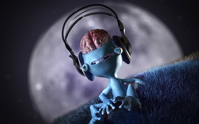Picture music, the moon, Brains