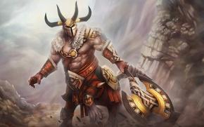Picture Game, armor, ruins, axe, dota 2, DotA, Bradwarden, Warchief, Centaur