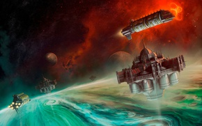 Picture Warhammer 40000, spaceship, Warhammer 40K, planet, Shield of Baal, Shield Of Baal