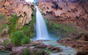Picture Arizona, Havasu falls, The Grand canyon, AZ, The Grand Canyon, rock, Havasu Falls, Grand Canyon