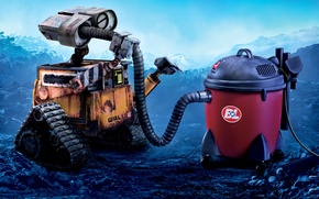 Picture robot, Wall-e, vacuum cleaner