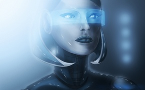 Picture Susie, edi, light, Dmitriy Lastivka, BDraw2012, Android, girl, mass effect, robot