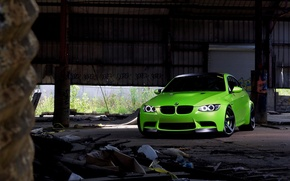 Picture green, green, coupe, BMW, BMW, the front, e92, daylight, tinted