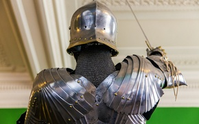 Picture metal, armor, knight, rear view