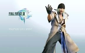 Picture Final Fantasy XIII, Final Fantasy 13, Blonde, Snow, Snow Villiers, El Si