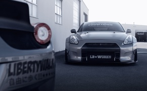 Picture Nissan, GT-R, Front, Tuning, R35, Liberty Walk, Ligth