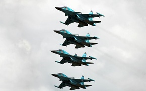 Picture bomber, the Russian air force, DRY, FULLBACK, SU-34