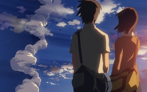 Picture the sky, sunset, relationship, 5 centimeters per second, Makoto Xingkai, 5 centimeters per second, toono …