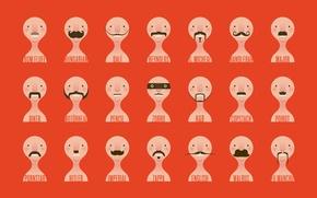 Picture mustache, Minimalism, face
