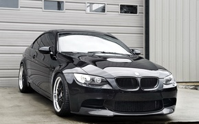 Picture reflection, black, bmw, BMW, coupe, gate, black, headlights, e92