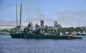 Picture cruiser, rocket, Guards, Pacific Fleet, The Vikings