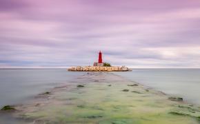 Picture sea, lighthouse, Spain, Valencia