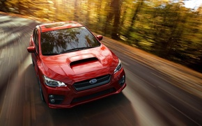 Picture Subaru, WRX, Red