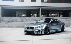 Picture BMW, Car, Prior Design, Silver, Wheels