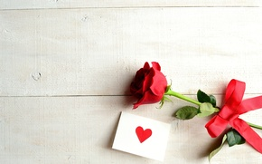 Picture flower, rose, tape, heart, bow, postcard
