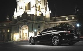 Picture Auto, Black, Night, Machine, The building, Mazda, RX 8