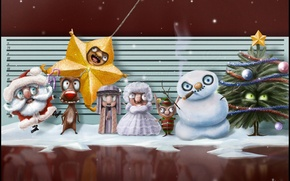 Wallpaper holiday, new year, the trick, characters